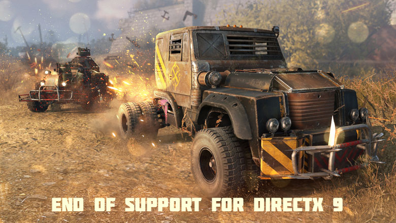 End of support for DirectX 9 - News - Crossout