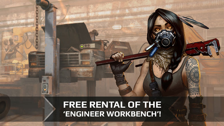 Free rental of the 'Engineer Workbench'! - News - Crossout